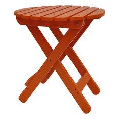 Adirondack Round Folding Table, Tangerine