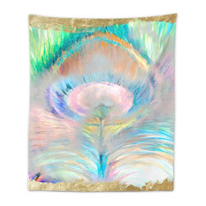 """Oliver Gal """"Dream of Feather"""" Wall Tapestry, 68""""x80"""""""