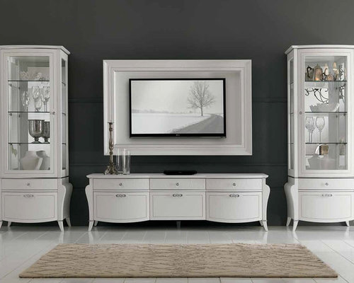 prestige deco wall unit composition 104 white by spar centers and tv