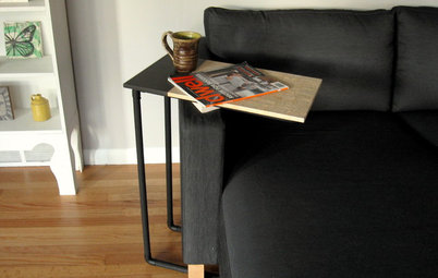 Weekend Project: DIY Side Table With a Novel Twist