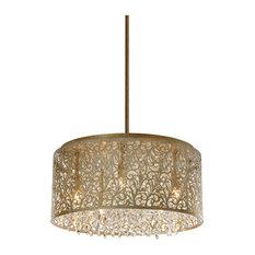 Sienna 8-Light Chandelier Palladium Gold Clear Crystal