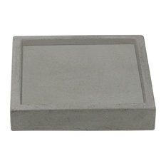 Square Concrete Tray/Valet Tray/Coin Tray, Natural Concrete