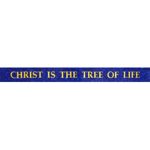 """Glass Mosaic Mural, Christ The Tree of Life, 5""""x56"""""""