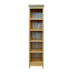 Mission Wooden 5-Tier 95-CD/Media Shelf, Natural
