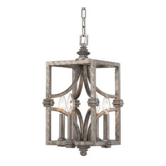 """Savoy House 3-4302-4 Structure 4 Light 9""""W Pendant - Silver"""