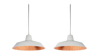 Cinco Basic S2 Ceiling Light, White and Copper