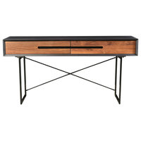 Moe's Home Vienna Console Table With Light Brown Finish JD-1015-21