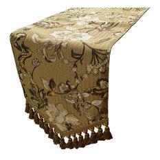"Voluptuous Decorative Table Runner, Brown, 54"""