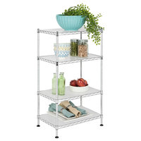 happimess HPM5005A Hope 17-3/4 Inch Wide Adjustable Baker Rack with Four Shelve