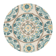Loloi Inc. - Loloi Francesca Collection Rug, Ivory and Beige, 3'x3' Round - Area Rugs