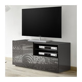 Miro (grey) 1 door 1 drawer TV unit