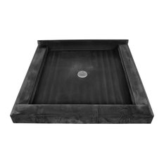 """Tile Redi 4242CDT 42"""" x 42"""" Floor Mounted Shower Pan with Triple Curb and 2"""" Ce"""