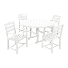 POLYWOOD La Casa Cafe 5-Piece Dining Set, White