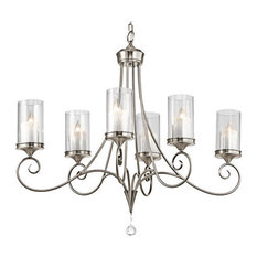 Oval Chandeliers: Kichler - Kichler 42862CLP Lara Single-Tier Oval Chandelier 6 Lights, 72