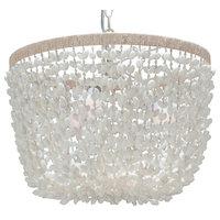 Inverted Pendant Lamp, Bubble Seashell, White