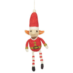 Felt So Good Elf Christmas Decoration, Red