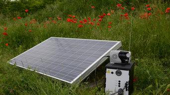 steckdosenfertiges Solarmodul mit Akku