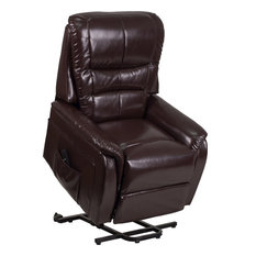 HERCULES Series Brown LeatherSoft Remote Powered Lift Recliner