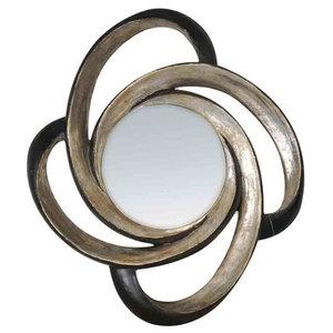EMDE Round Buckle Mirror, Silver