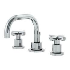 Dia 2-Handle Low-Arch Widespread Faucet With Cross Handles and Drain Assembly