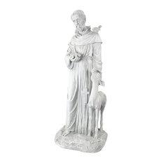 Design Toscano - Saint Francis of Assisi Patron Saint of Animals Garden Statue - Garden Statues, Sculptures & Art