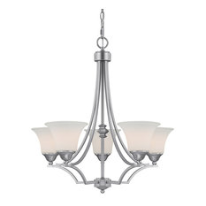 Capital Lighting 4025-114 Towne and Country 5 Light 1 Tier Chandelier