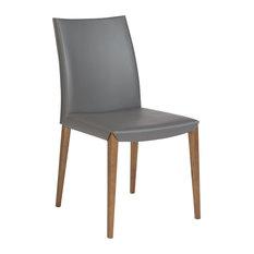 Unique Leatherette Conference Chair, Soft Gray, Set Of 2