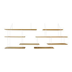 Link Shelving System Duo, Oak and White