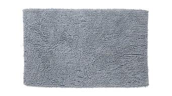Misto Chenille Bath Mat, Grey, Rectangular