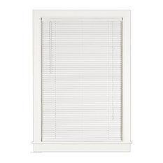 """Cordless Vinyl 1"""" Mini Window Blinds Venetian Blind, 64"""" Long, White, 19"""""""
