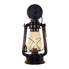 Muskoka Lifestyle Products   Lantern Wall Mounted Light, Black, Large   Wall  Sconces