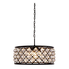 1214 Madison Collection Pendant Lamp,25''x10.5'',Polished Nickel/Gray, Mocha Bro