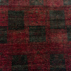 Noori Rug - Indo Modern Narses Red Hand-Knotted Rug, 12'0x15'0 - Area Rugs