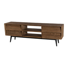 Sistine TV Stand With 4 Drawers, Brown