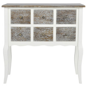 VidaXL Console Cabinet With 6 Drawers, White Wood