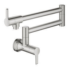 Ladylux L2 Wall Mount Pot Filler, Super Steel