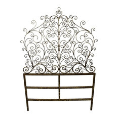 Peacock Iron Scroll Headboard, Twin