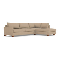 Tuxedo 2-Piece Sectional Sofa, Beige, Chaise on Right