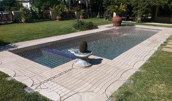 Custom cut pool safety net cover