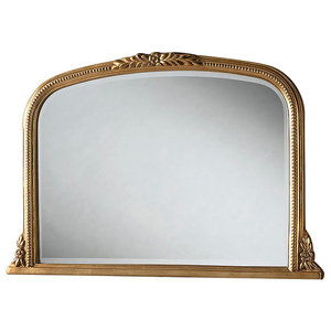 Classic Gold Mantle Wall Mirror, 102x66 cm