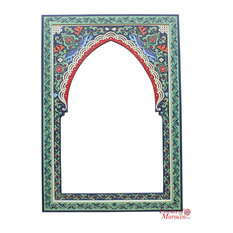 Moroccan Mirrors Zouak 90cm x 60cm Blue Green Limited Edition