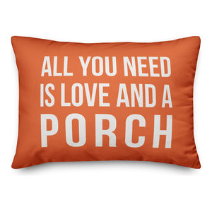 All You Need Is Love And A Porch Outdoor Lumbar Pillow Contemporary Outdoor Cushions And Pillows By Designs Direct