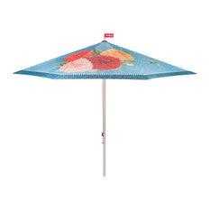 Fatboy Colorful Garden Umbrella, Floral Pattern, Blue Floral