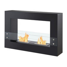 Tectum Freestanding Bio Ethanol Fireplace in Black