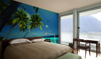 Tropical Mural in Bedroom