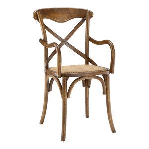 Gear Dining Wood Armchair, Walnut