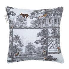 Pillow Cover Bellecour, White and Gray
