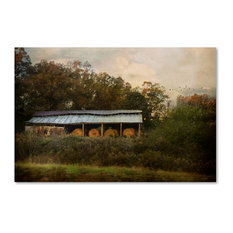 Jai Johnson 'A Barn For The Hay' Canvas Art, 19 x 12