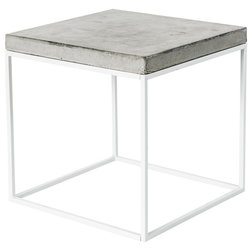 Cool Industrial Side Tables And End Tables Oakland Cube Table White