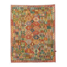 "Kelim Afghan Rug Oriental Carpet 8'3""x6'6"" Hand-Woven Classic"